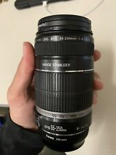 Canon EF-S 55-250mm F4-5.6 IS STM Lens for Canon SLR Cameras No Box