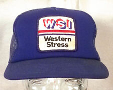 vtg 80s retro WSI Western Stress Patch Trucker Hat Cap Snapback punk indie
