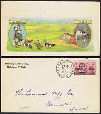 USA 1937 3c Violet St Paul Dairy Cream Milk Illustrated Advertising Envelope.