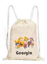 Personalised Bubble Guppies Drawstring Canvas Gym/ PE Bag