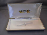 Mont Blanc vintage tan single pen box with green imprint on inside