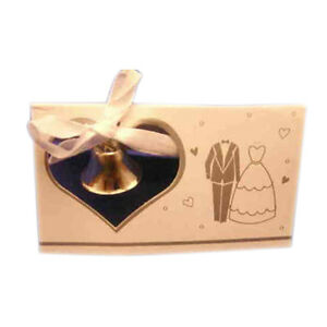 10 Wedding Place cards silver bell and wedding attire