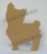 YORKSHIRE TERRIER DOG SHAPE IN MDF (18mm thick)/WOODEN CRAFT SHAPE/DECORATION