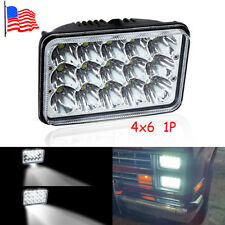 "4""x6"" LED Headlights Light Bulbs Replace H4656/4651 Sealed Headlamp 1 PC"