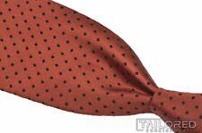 "KITON Orange Black Polka Dot 7 FOLD Twill 100% Silk Mens Luxury Tie - 3.50"""