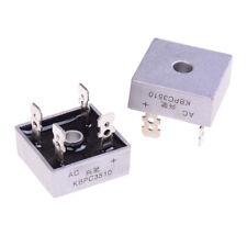 2Pcs bridge rectifier kbpc3510 amp metal case - 1000 volt 35a diode  *FR