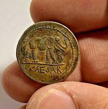ANCIENT ROMAN SILVER DENARIUS COIN CAESAR  22mm