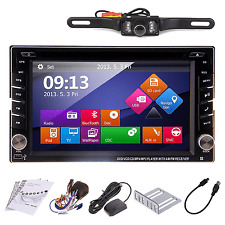 "2DIN 6.2""Car DVD Player Bluetooth GPS SAT NAV Radio Stereo CD Ipod with Camera"