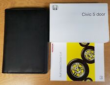 GENUINE HONDA CIVIC 5 DOOR 2006-2012 OWNERS MANUAL HANDBOOK WALLET PACK G-456