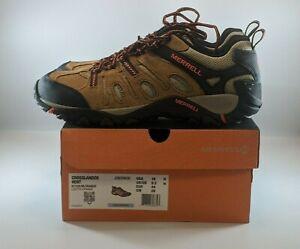 Merrell Crosslander Vent Mens Hiking Shoes Size 10 Otter/Orange J362583C