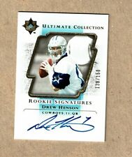 2004 UD Ultimate Collection Drew Henson Auto Rookie #/150 Dallas Cowboys