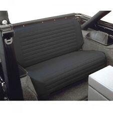 Jeep CJ Wrangler YJ Seat Covers Rear Black Denim Bestop 65-95
