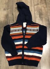 Gymboree Boys Fox Trail Zip Up Hooded Sweater Size 3t Hoodie Jacket Jumper