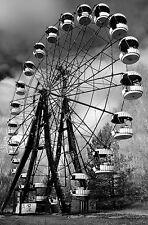 Enmarcado impresión-Chernobil Noria blanco y negro (Foto Arte Cartel Fair)