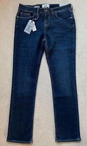 Jeans Fat Face Indigo Denim Size 12 Regular Straight Slim