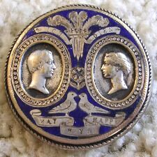 Stunning and Fabulous ex rare Victoria & Albert silver plated button