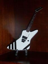 Mini Guitar SCORPIONS MATTHIAS JABS Memorabilia FREE Stand GIFT Black Stripes