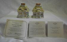 Lenox The Irish Blessing Candlesticks Ivory Fine China HandPainted 24 k Gold COA
