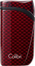 COLIBRI FALCON SINGLE ANGLED JET FLAME LIGHTER / CARBON DESIGN RED ** NEW **