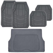Gray TransTech All Weather HD Rubber Mats Set - 5pc Car Floor Mat Cargo Liner