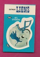 1987 DETROIT LIONS NFL FOOTBALL STICKERS  NRMT-MT CARD (INV# A4868)