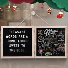Felt Letter Board - 10'' Letter Board & 10'' Chalkboard with White Letters