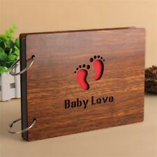 Handmade Wooden Cover Baby Photo Albums 7/6/5/4 inch Self-Adhesive Albums Photos