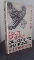 Ernst Barlach Zwischen Erdeund Himmel Biblioteca di Piper 44 Grvures Be