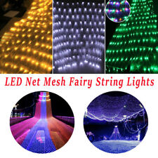 LED String Fairy Net Lights Curtain Mesh Christmas Party Garden Outdoor Decor