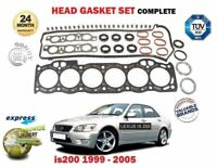 FOR LEXUS IS200 2.0 1/1999-12/2005 NEW CYLINDER HEAD GASKET SET EO QUALITY