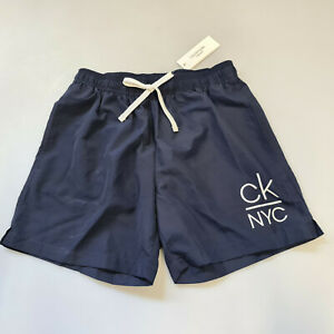 Calvin Klein Swimwear Badeshorts Badehose Navy Medium Drawstring Herren Gr. S