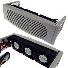 EverCool EC-HK-3F Hard Disk Drive 5.25 inch Bay 3 Fan Case HDD Cooler Beige