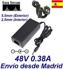 Cargador Corriente 48V 0.38A Reemplazo CISCO IP CP-7941-CH1 CP-7945-CH1 Recambio