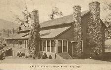 Hot Springs VA * Valley View Inn Dining Hall 1936 * Bath Co.