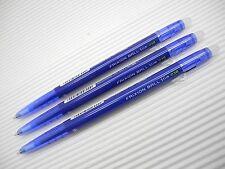 3pcs NEW PILOT retractable FRIXION ball slim 0.38mm roller ball pen BLUE ink