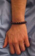"""2 FOR $10 MEN'S BLACK  WOOD BEADS BRACELET """"STRETCH""""ONE SIZE FREE SHIPPING!"""