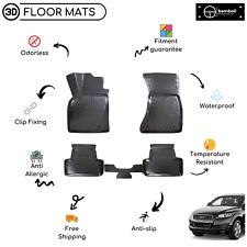 Custom Molded Rubber Floor Mat for Audi Q7 Suv 2006-2014 (Black)
