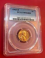 1963-D 1C Rd Lincoln Commémoratif un Cents PCGS