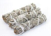 3 x White Sage Smudge Sticks - Native American Vegan Incense Sage Smudge 10cm