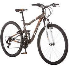 "Mongoose 27.5"" Men Mountain Bike Aluminium Bronze Orange Bicycle Dual Suspension"