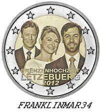 MONEDA CONMEMORATIVA DE 2 EUROS DE LUXEMBURGO 2012 BODA. SIN CIRCULAR.