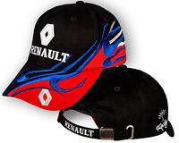 RENAULT Noir Rouge Casquette 3D Brode Auto Logo Chapeau Baseball Cap Homme Femme