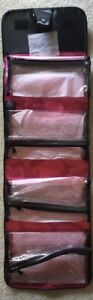NEW Hanging Travel Roll Up Bag Cosmetic Makeup Case Removable Pouches