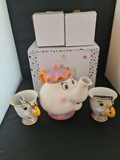 More details for disney beauty and the beast mrs potts teapot chip teacups boxed set paladone