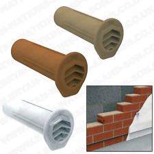 5x Drill Weep Vents Round Refurb Vent Cavity Retaining Wall Rendered Walls Buff (rvwvrbu) 5