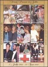 Niger 1997 Princess Diana/Red Cross/Medical/Welfare/Health/Royalty 9v sht b2891
