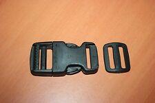 Accessoire Maroquinerie Fermoir Ouverture Rapide Plastique noir + Boucle Réglage