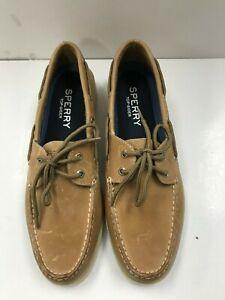Sperry Men's Top-Sider Leeward 2 Eye Boat Shoes, Oatmeal, Size 10.5 M US
