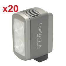 20x Lumiere L.A. L60326 DUO LED 5500K Portable White Daylight Video Light O