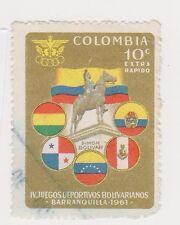 (COA-116) 1961 Colombia 10c Bolivian Games